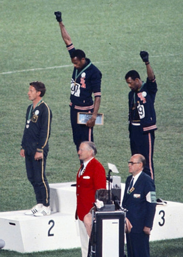 Protest at 1968 Olympics