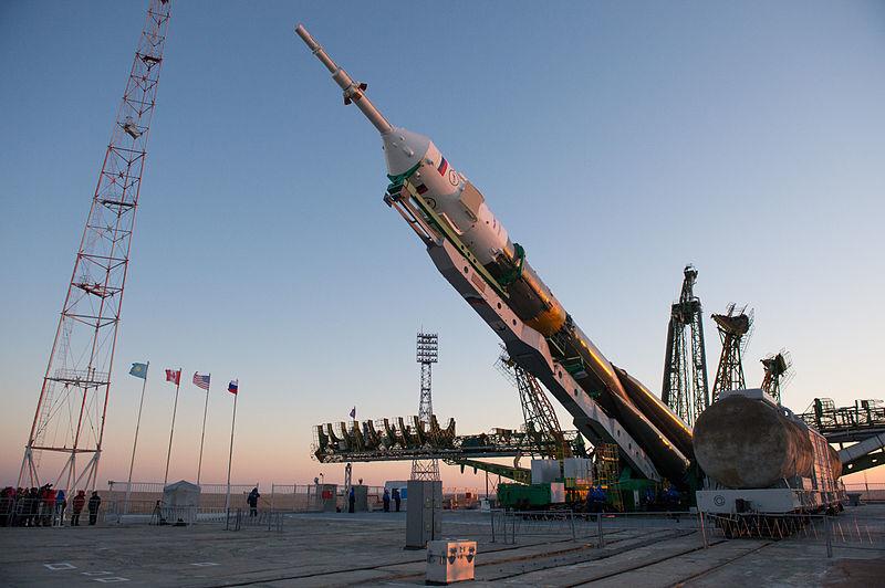 Soyuz Rocket on Launchpad, 2012