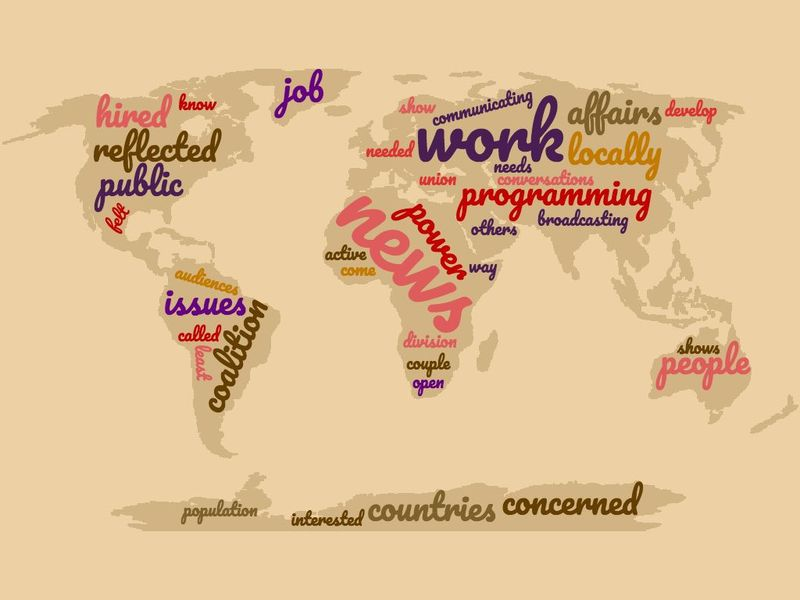 A word cloud of what was said in an interview with Anne Stadler that was done by Gwen Whiting in 2017.