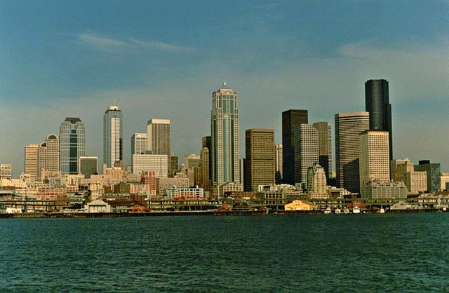 Seattle skyline, mid-1990s